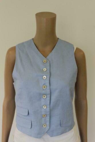 Josephine & Co lichtblauw linnen gilet maat 40