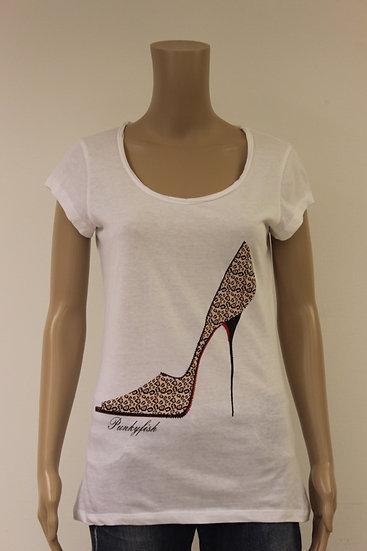 Punkyfish wit t-shirt met print maat L (maat 40)