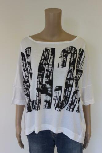 Drykorn - zwart/wit t-shirt, maat M (maat 38/maat 40/maat 42)