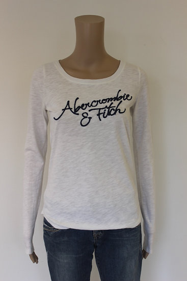 Abercrombie & Fitch - roomwit t-shirt, maat S