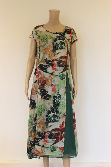 Keyingyi Groene bloemige jurk/rok maat 44