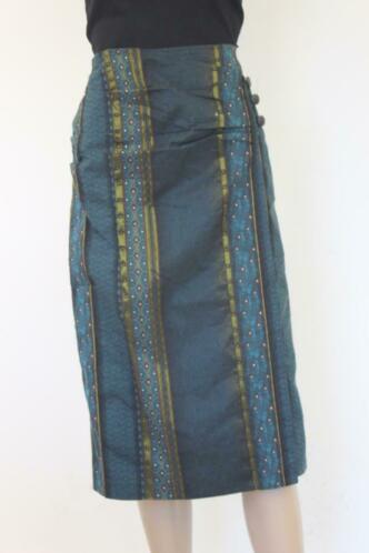 La Ligna - blauwe/bonte rok, maat 38