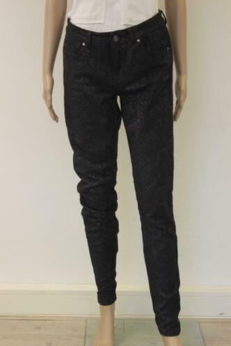 Supertrash - Peppy slangenpatroon skinny broek, jeansmaat 30