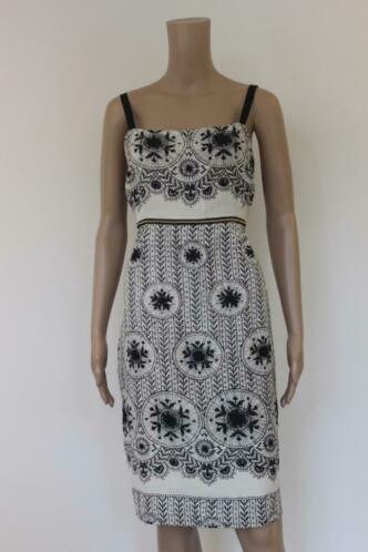 Mariella Rosati - zwart/witte jurk, maat 40