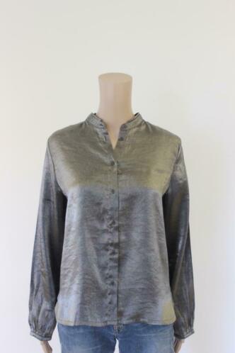 Sissy-Boy zilvergrijze blouse maat 38