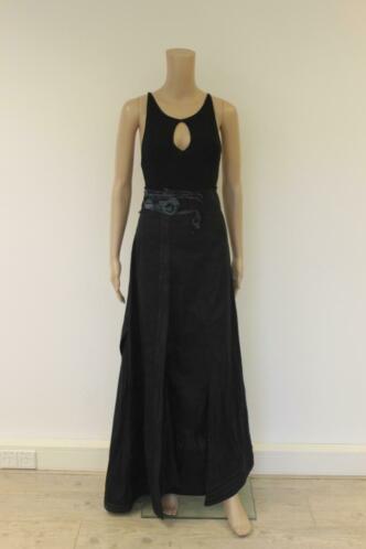 OHDD zwarte lange jurk italiaanse maat 44 (maat 38)