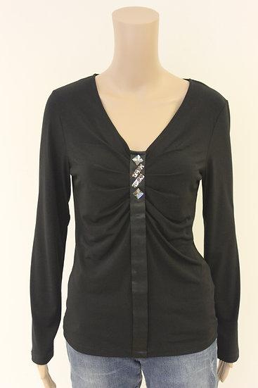 Lisa Campione - Zwart T-shirt, maat 40