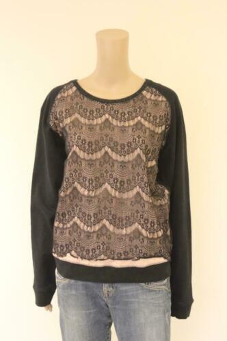 Maison Scotch - zwart/lichtroze trui, maat 3 (maat 38/maat 40)