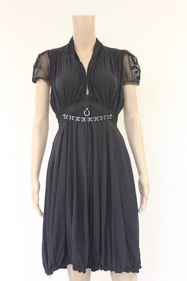 High zwarte jurk maat 40/42