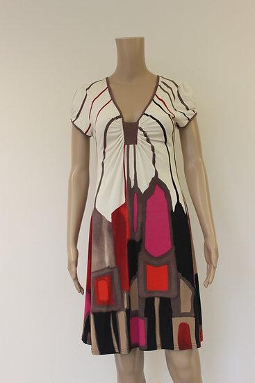 Carlopik - bonte jurk, maat M (maat 38/maat 40)