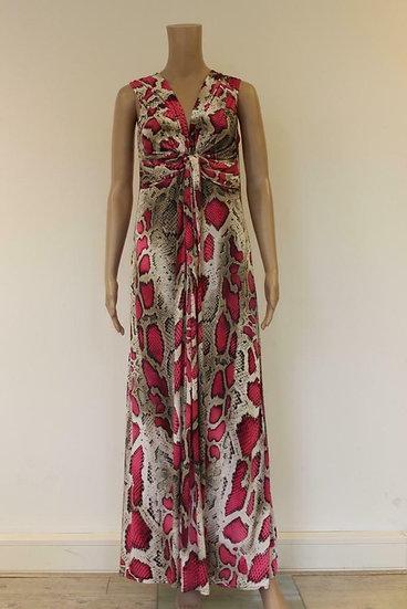 Roomwit/roze jurk maat M (maat 38/maat 40)