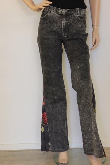 Pianura - Zwarte flair jeans, maat 40