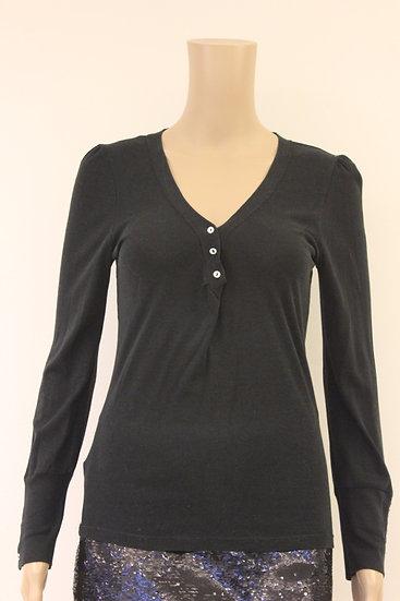 Massimo Dutti zwart t-shirt met lange mouwen maat 36/38