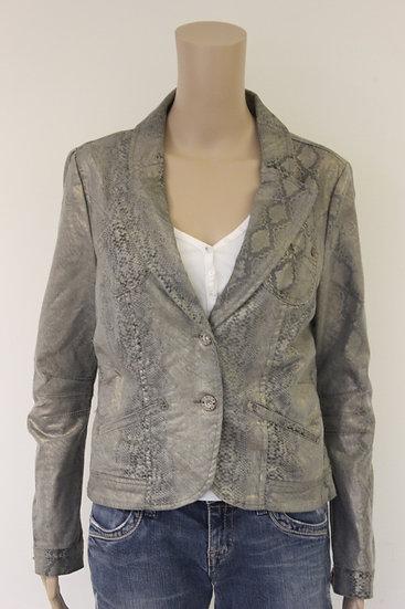 Geisha - zilverkleurig jasje, maat 38/maat 40