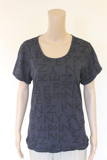Penn & Ink - Donkerblauw/zwart T-shirt, maat 42