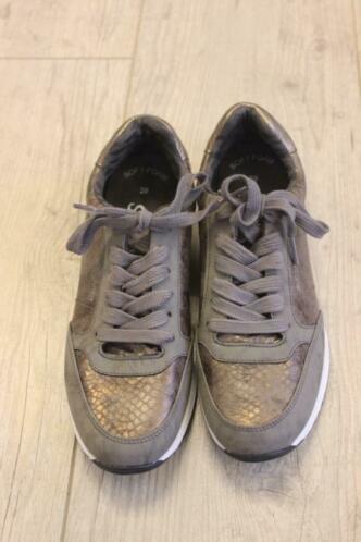 S.Oliver - bruingrijze sneakers, maat 39
