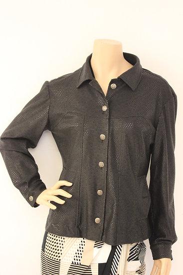 Sophia Pigozzi zwart leatherlook jasje maat 40
