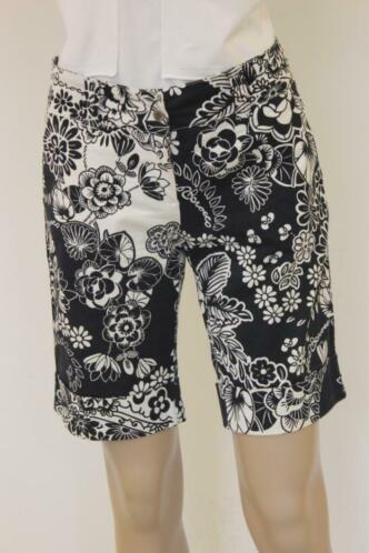 Roccobarocco - zwart/witte korte broek, maat 38