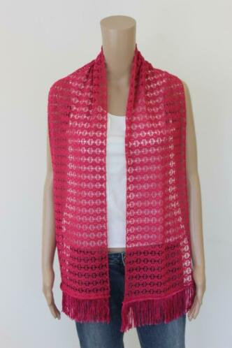 Roze gehaakte zomer sjaal