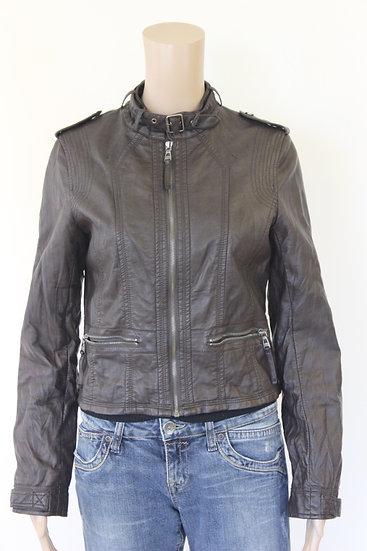 Softy - Bruin leatherlook jasje, maat 36/38