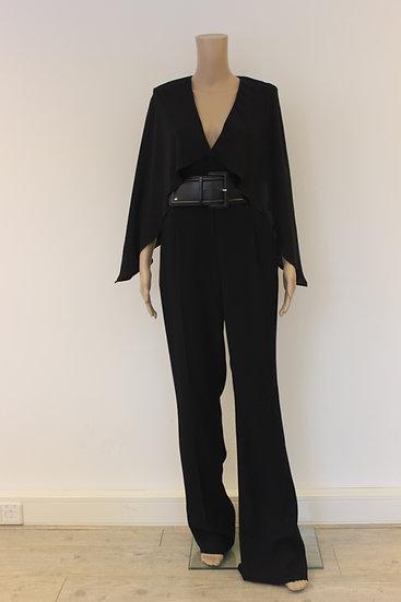 Elisabetta Franchi - Zwarte jumpsuit zonder riem, maat 38