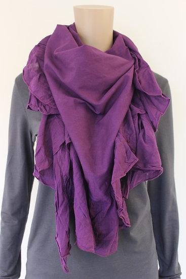 Paarse driehoekige sjaal