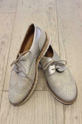 Choizz - zilvergrijze leren schoenen, maat 40