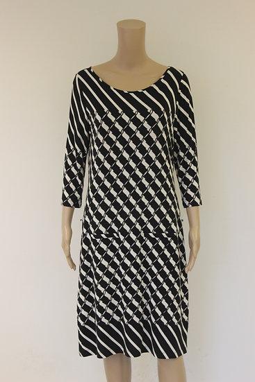 Claudia Sträter - Zwart/witte jurk, maat 40