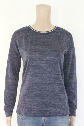 Geisha - blauw/zilver t-shirt, maat S (maat 36)