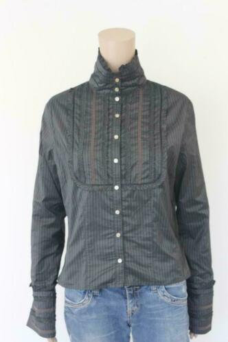 Josephine & Co antraciet krijtstreep blouse maat 42