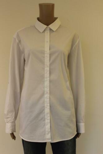 Yaya - witte blouse met zwarte lijn, maat 40