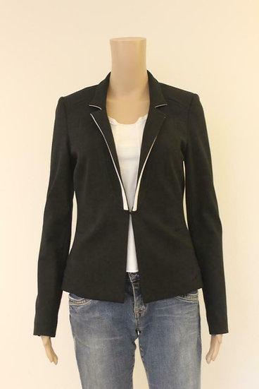 Aaiko - Zwart jasje met witte details, maat 36