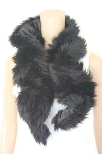 Laimböck zwarte nepbonten sjaal