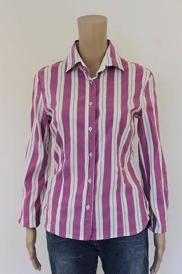 Benetton - Paars/wit gestreepte blouse, maat 38