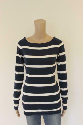 Geddes & Gillmore - blauw/wit gestreepte trui, maat M (maat 38)