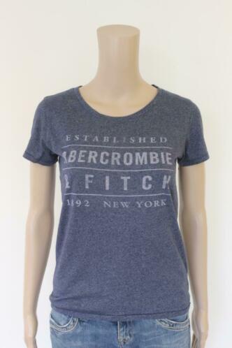 Abercrombie & Fitch blauw t-shirt maat XS (maat 34/maat 36)