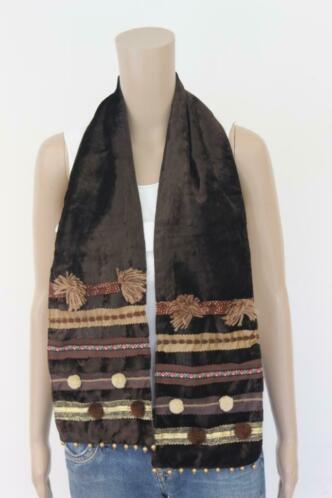 Bruin velours sjaaltje