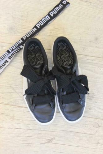 Puma zwart/witte sneakers maat 41
