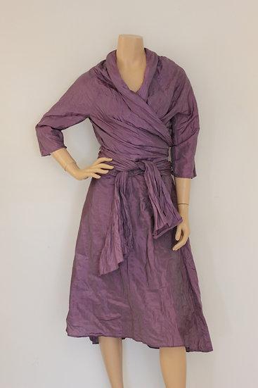 Oni Onik - Feestelijke lila set van blouse en rok, maat 40