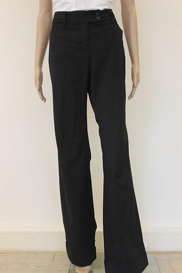 s. Oliver - Zwarte pantalon met flairpijp, maat 40