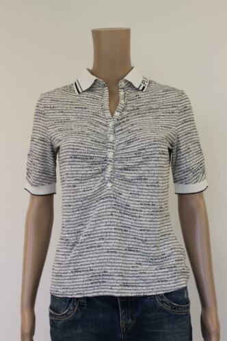Zwart/wit polo t-shirt, maat 38