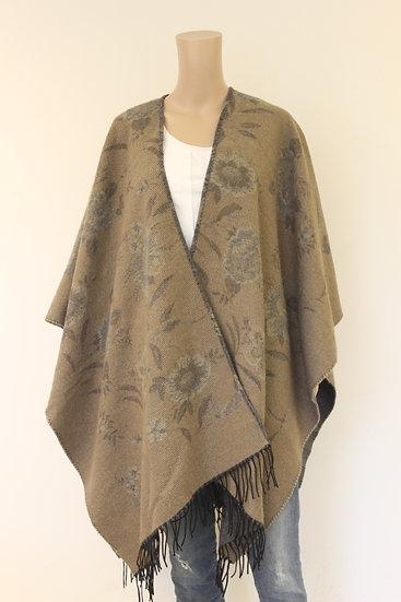 Beige/bruingrijze sjaal/stola