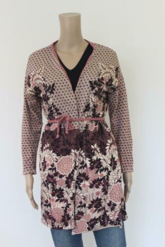 KOOI Knitwear oudroze/bordeaux tuniekvest maat 36