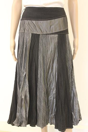 Lisa Campione - Feestelijke zwart/grijze rok, maat 40