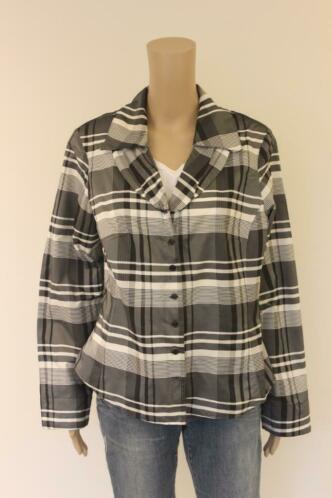 Witteveen - zwart/grijs/roomwit jasje, maat 40