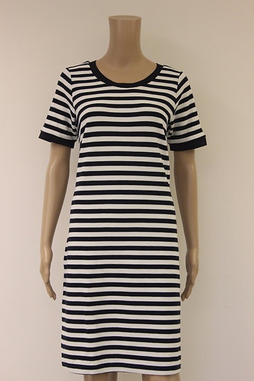 Geisha donkerblauw/witte jurk maat L/40