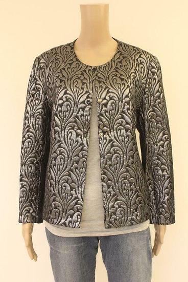 Zilver/zwart jasje, maat 42