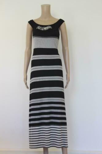 Save the Queen - zwart/grijze jurk, maat XL (maat 42)
