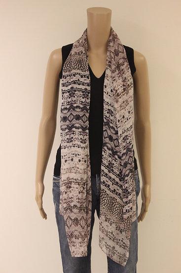 Oudroze/zwarte sjaal