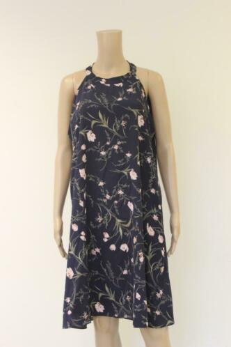 LBC donkerblauwe bloemetjes jurk/tuniek